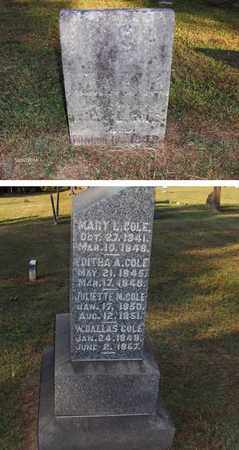 COLE, MARY L - Washington County, Ohio | MARY L COLE - Ohio Gravestone Photos