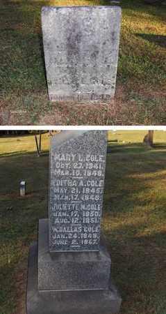 COLE, MARY L - Washington County, Ohio   MARY L COLE - Ohio Gravestone Photos