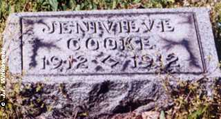 COOKE, JENIEVE - Washington County, Ohio | JENIEVE COOKE - Ohio Gravestone Photos