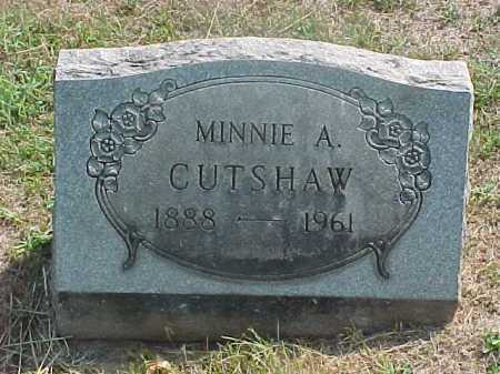 CUTSHAW, MINNIE - Washington County, Ohio | MINNIE CUTSHAW - Ohio Gravestone Photos