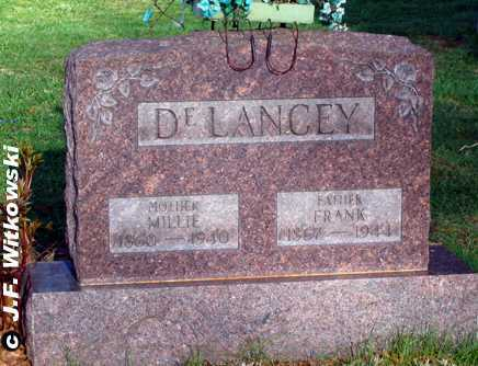 "DELANCEY, AMELINE ""MILLIE"" - Washington County, Ohio 
