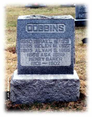 DOBBINS, ISRAEL W. JR. - Washington County, Ohio | ISRAEL W. JR. DOBBINS - Ohio Gravestone Photos