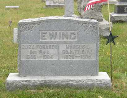 FORAKER EWING, ELIZA - Washington County, Ohio | ELIZA FORAKER EWING - Ohio Gravestone Photos