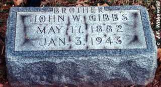 GIBBS, JOHN WILLIAM - Washington County, Ohio | JOHN WILLIAM GIBBS - Ohio Gravestone Photos