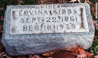 MCCORMICK GIBBS, LOVINA - Washington County, Ohio | LOVINA MCCORMICK GIBBS - Ohio Gravestone Photos
