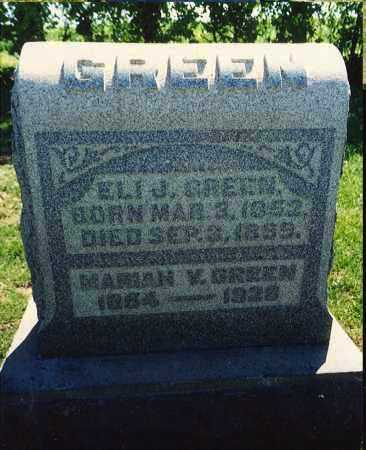 GREEN, MARIAH VIOLA - Washington County, Ohio | MARIAH VIOLA GREEN - Ohio Gravestone Photos