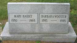 WOOSTER, BARBARA - Washington County, Ohio | BARBARA WOOSTER - Ohio Gravestone Photos