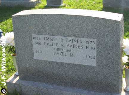 HAINES, EMMET R. - Washington County, Ohio | EMMET R. HAINES - Ohio Gravestone Photos