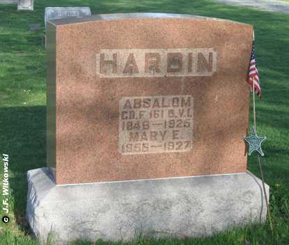 HARDIN, ABSALOM - Washington County, Ohio | ABSALOM HARDIN - Ohio Gravestone Photos