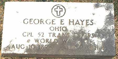HAYES, GEORGE E. - Washington County, Ohio | GEORGE E. HAYES - Ohio Gravestone Photos