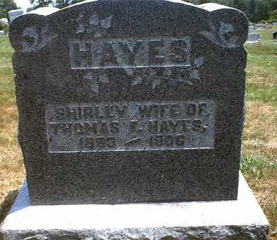 HAYES HAYES, SHIRLEY - Washington County, Ohio | SHIRLEY HAYES HAYES - Ohio Gravestone Photos