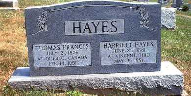 HAYES HAYES, HARRIETT - Washington County, Ohio | HARRIETT HAYES HAYES - Ohio Gravestone Photos