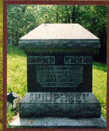 HUMPHREY, ELMIRA - Washington County, Ohio | ELMIRA HUMPHREY - Ohio Gravestone Photos