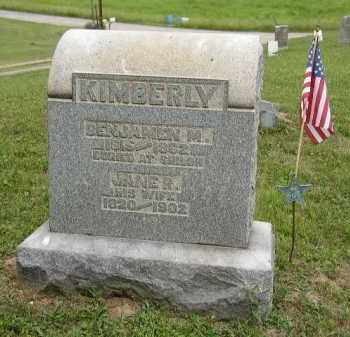 KIMBERLY, BENJAMIN - Washington County, Ohio | BENJAMIN KIMBERLY - Ohio Gravestone Photos