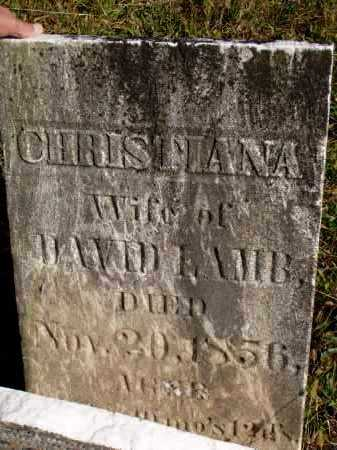 LAMB, CHRISTIANA - Washington County, Ohio | CHRISTIANA LAMB - Ohio Gravestone Photos