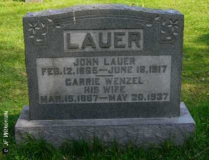 WENZEL LAUER, CARRIE - Washington County, Ohio | CARRIE WENZEL LAUER - Ohio Gravestone Photos