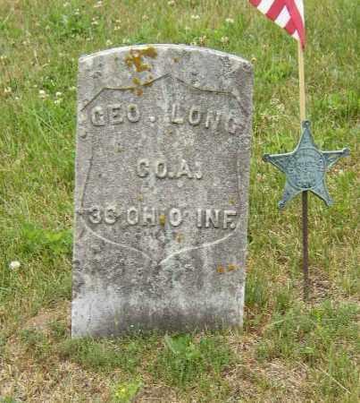 LONG, GEORGE - Washington County, Ohio | GEORGE LONG - Ohio Gravestone Photos