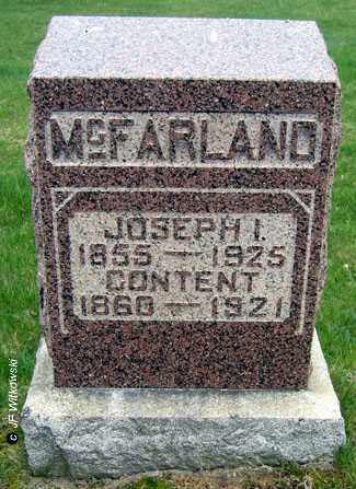 MCFARLAND, CONTENT - Washington County, Ohio | CONTENT MCFARLAND - Ohio Gravestone Photos