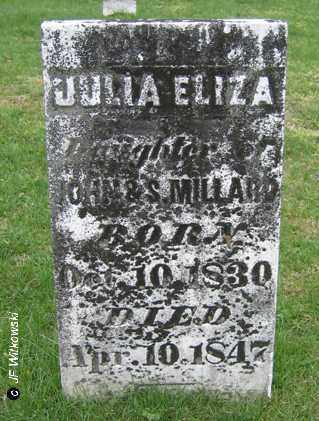 MILLARD, JULIA ELIZA - Washington County, Ohio | JULIA ELIZA MILLARD - Ohio Gravestone Photos