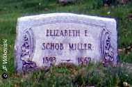 SCHOB MILLER, ELIZABETH E. - Washington County, Ohio | ELIZABETH E. SCHOB MILLER - Ohio Gravestone Photos