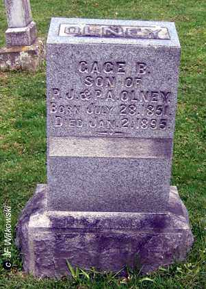 OLNEY, GAGE B. - Washington County, Ohio | GAGE B. OLNEY - Ohio Gravestone Photos