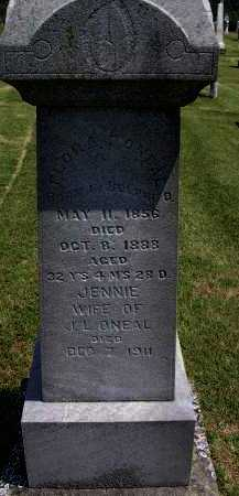 RARDIN O'NEAL, JENNIE - Washington County, Ohio | JENNIE RARDIN O'NEAL - Ohio Gravestone Photos