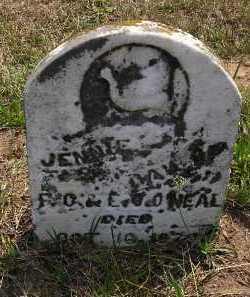 O'NEAL, JENNIE - Washington County, Ohio | JENNIE O'NEAL - Ohio Gravestone Photos