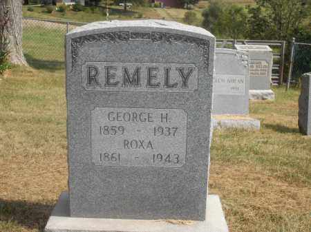 REMELY, GEORGE H. AND ROXA - Washington County, Ohio | GEORGE H. AND ROXA REMELY - Ohio Gravestone Photos