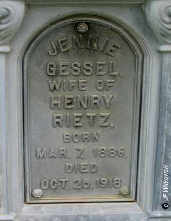 GESSEL RIETZ, JENNIE - Washington County, Ohio | JENNIE GESSEL RIETZ - Ohio Gravestone Photos