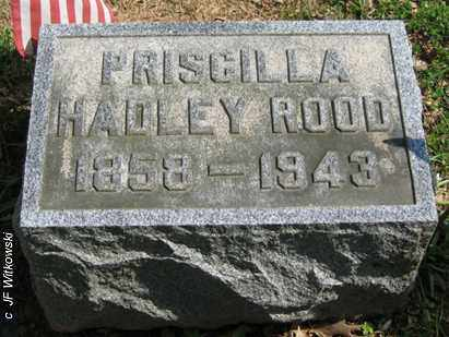 HADLEY ROOD, PRISCILLA - Washington County, Ohio | PRISCILLA HADLEY ROOD - Ohio Gravestone Photos