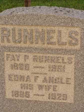 ANGLE RUNNELS, EDNA F. - Washington County, Ohio | EDNA F. ANGLE RUNNELS - Ohio Gravestone Photos