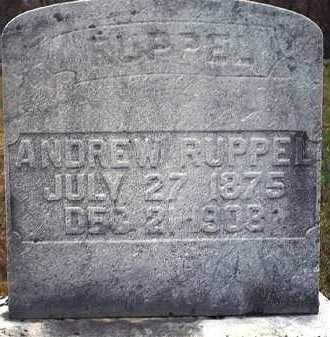 RUPPEL, JOHN ANDREW - Washington County, Ohio | JOHN ANDREW RUPPEL - Ohio Gravestone Photos