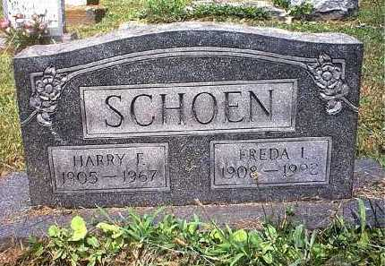 SCHOEN, FREDA IRENE - Washington County, Ohio | FREDA IRENE SCHOEN - Ohio Gravestone Photos