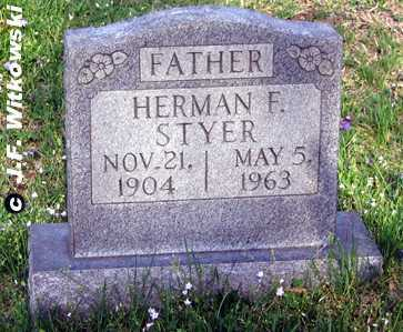 STYER, HERMAN FRANKLIN - Washington County, Ohio | HERMAN FRANKLIN STYER - Ohio Gravestone Photos
