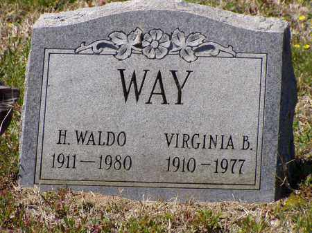 WAY, VIRGINIA B. - Washington County, Ohio | VIRGINIA B. WAY - Ohio Gravestone Photos