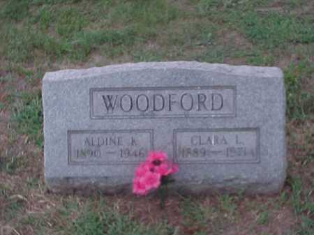WOODFORD, ALDINE - Washington County, Ohio | ALDINE WOODFORD - Ohio Gravestone Photos