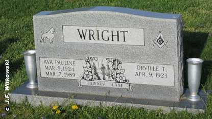 WRIGHT, ORVILLE THEODORE - Washington County, Ohio | ORVILLE THEODORE WRIGHT - Ohio Gravestone Photos