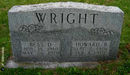 DIXON WRIGHT, BESS - Washington County, Ohio | BESS DIXON WRIGHT - Ohio Gravestone Photos