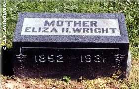 WRIGHT, ELIZA E. - Washington County, Ohio | ELIZA E. WRIGHT - Ohio Gravestone Photos