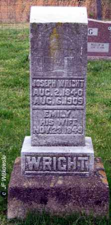 WRIGHT, EMILY - Washington County, Ohio | EMILY WRIGHT - Ohio Gravestone Photos