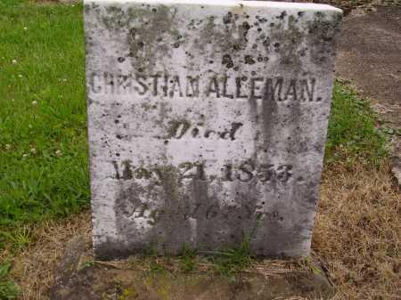 ALLEMAN, CHRISTIAN - Wayne County, Ohio | CHRISTIAN ALLEMAN - Ohio Gravestone Photos