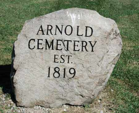 ARNOLD, CEMETERY SIGN - Wayne County, Ohio | CEMETERY SIGN ARNOLD - Ohio Gravestone Photos