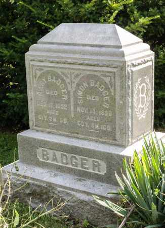 BADGER, SIMON - Wayne County, Ohio | SIMON BADGER - Ohio Gravestone Photos