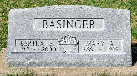 BASINGER, BERTHA E - Wayne County, Ohio | BERTHA E BASINGER - Ohio Gravestone Photos