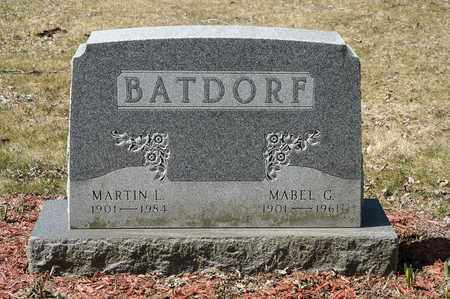 BATDORF, MABEL G. - Wayne County, Ohio | MABEL G. BATDORF - Ohio Gravestone Photos