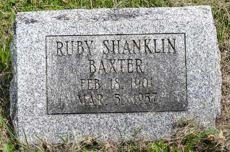 SHANKLIN BAXTER, RUBY - Wayne County, Ohio | RUBY SHANKLIN BAXTER - Ohio Gravestone Photos