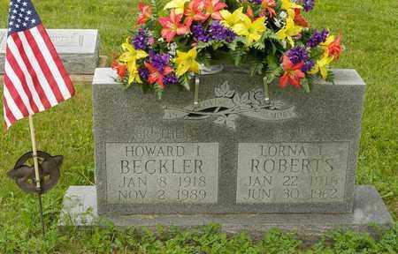 BECKLER, HOWARD I. - Wayne County, Ohio | HOWARD I. BECKLER - Ohio Gravestone Photos