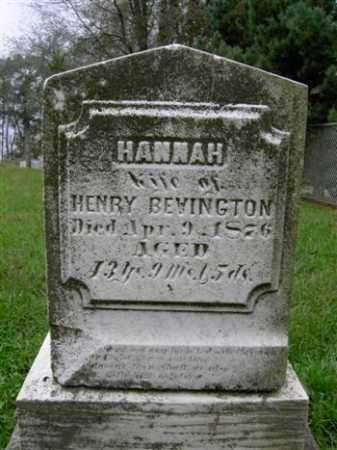 BEVINGTON, HANNA - Wayne County, Ohio | HANNA BEVINGTON - Ohio Gravestone Photos