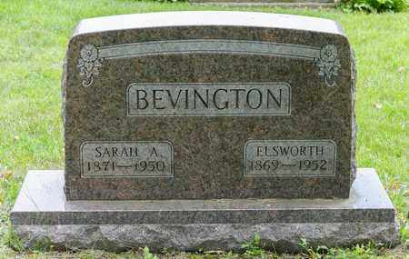 BEVINGTON, SARAH A. - Wayne County, Ohio | SARAH A. BEVINGTON - Ohio Gravestone Photos
