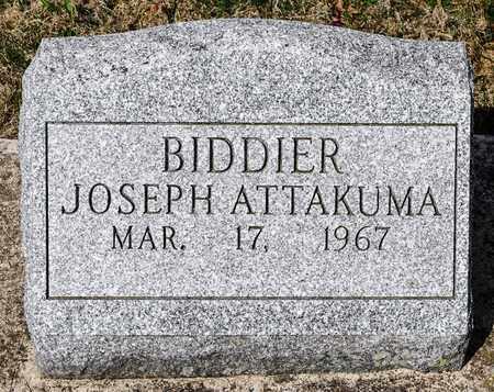 BIDDIER, JOSEPH ATTAKUMA - Wayne County, Ohio | JOSEPH ATTAKUMA BIDDIER - Ohio Gravestone Photos
